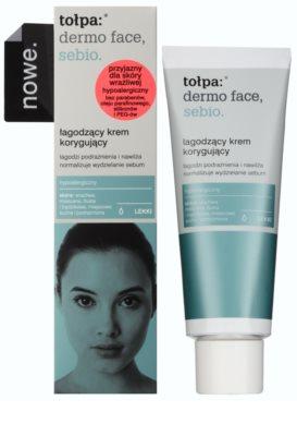 Tołpa Dermo Face Sebio crema calmante para pieles sensibles con tendencia acnéica 1