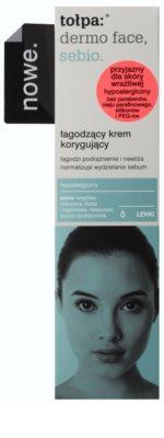 Tołpa Dermo Face Sebio crema calmante para pieles sensibles con tendencia acnéica 2