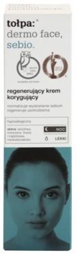Tołpa Dermo Face Sebio crema regeneradora de noche para pieles grasas 2