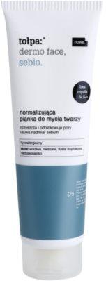 Tołpa Dermo Face Sebio espuma limpiadora equilibrante de la producción de sebo