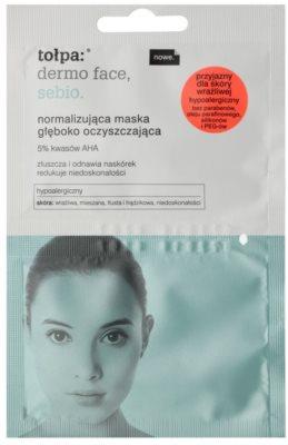 Tołpa Dermo Face Sebio Mască de normalizare și curățare profundă pentru pielea cu imperfectiuni