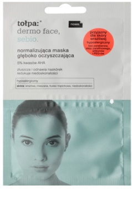 Tołpa Dermo Face Sebio normalizující hloubkově čisticí maska pro pleť s nedokonalostmi