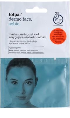 Tołpa Dermo Face Sebio maska-peeling-gél 4v1 pre pleť s nedokonalosťami