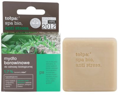 Tołpa Spa Bio Anti Stress detoxikáló szappan tőzeggel 1