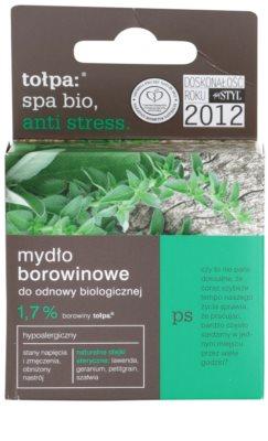 Tołpa Spa Bio Anti Stress detoxikáló szappan tőzeggel 2