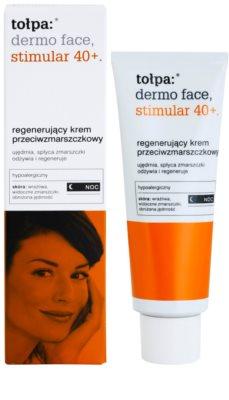 Tołpa Dermo Face Stimular 40+ regenerierende Nachtcreme gegen Falten 1