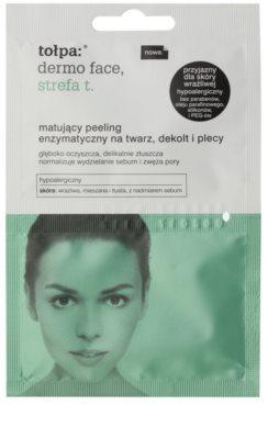 Tołpa Dermo Face T-Zone mattosító enzimatikus peeling az arcra, dekoltázsra és hátra