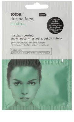 Tołpa Dermo Face T-Zone zmatňující enzymatický peeling na obličej, dekolt a záda