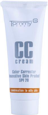 Tommy G CC Cream hidratáló CC krém kombinált és zsíros bőrre SPF 20