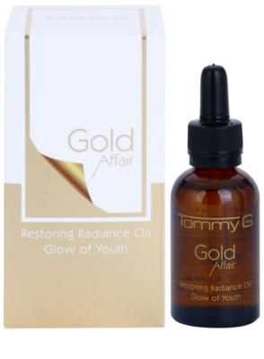Tommy G Gold Affair kisimító hatású regeneráló olaj az élénk bőrért 1