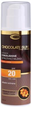 Topvet Chocolate Sun loción bronceadora SPF 20