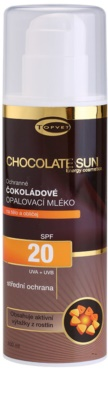 Topvet Chocolate Sun mleczko do opalania SPF 20