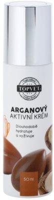 Topvet Face Care creme hidratante nutritivo com óleo de argan