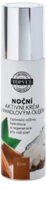 Topvet Face Care подхранващ нощен крем с бадемово масло