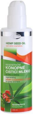 Topvet Hemp Seed Oil regenerierende Reinigungsmilch auf Hanfbasis für Körper und Gesicht 1