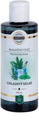 Topvet Professional masážní olej - chladivý relax