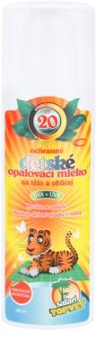 Topvet Safari leche solar para niños SPF 20