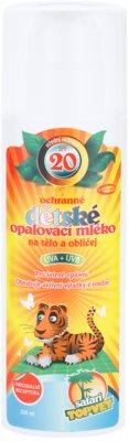 Topvet Safari leite solar para crianças SPF 20