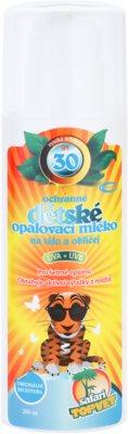 Topvet Safari opalovací mléko pro děti SPF 30