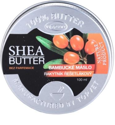 Topvet Shea Butter bambucké maslo s rakytníkom bez parfumácie