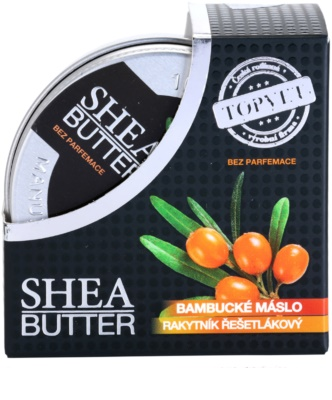 Topvet Shea Butter bambucké maslo s rakytníkom bez parfumácie 3