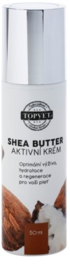 Topvet Shea Butter nährende Feuchtigkeit spendende Creme mit Bambus Butter