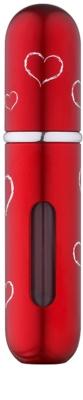 Travalo Classic HD Hearts nachfüllbarer Flakon mit Zerstäuber unisex   Red
