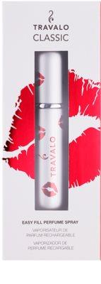 Travalo Classic HD Kiss szórófejes parfüm utántöltő palack unisex   Silver 1