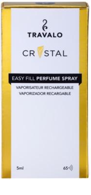 Travalo Crystal Gold plnitelný rozprašovač parfémů unisex 4