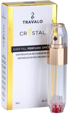 Travalo Crystal Gold plnitelný rozprašovač parfémů unisex 1