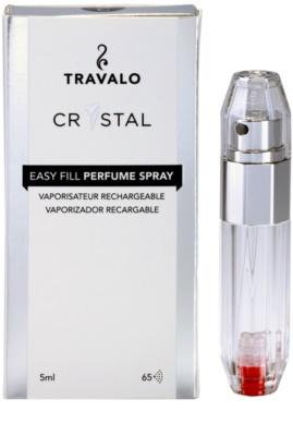 Travalo Crystal Silver nachfüllbarer Flakon mit Zerstäuber unisex