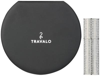 Travalo Divine nachfüllbarer Flakon mit Zerstäuber unisex  mit Swarovskikristallen Silver