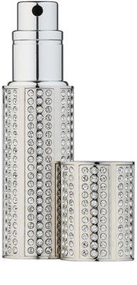 Travalo Divine nachfüllbarer Flakon mit Zerstäuber unisex  mit Swarovskikristallen Silver 5