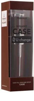 Travalo Milano Case U-change kovový obal na plnitelný rozprašovač parfémů unisex    Brown 1