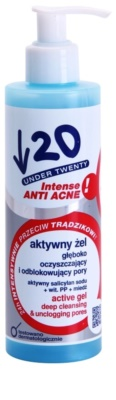 Under Twenty ANTI! ACNE INTENSE tiefenreinigendes Gel gegen die Unvollkommenheiten der Haut