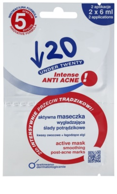 Under Twenty ANTI! ACNE INTENSE mascarilla facial limpiadora  anti-acné