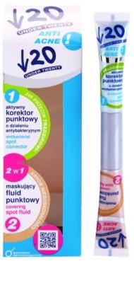 Under Twenty ANTI! ACNE Korrektor für makellose Haut mit antibakterieller Wirkung 2in1