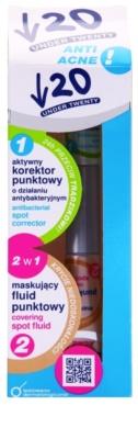 Under Twenty ANTI! ACNE Korrektor für makellose Haut mit antibakterieller Wirkung 2in1 2