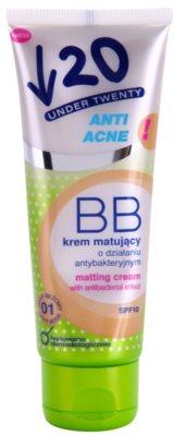 Under Twenty ANTI! ACNE mattosító BB krém antibakteriális hatással SPF 10