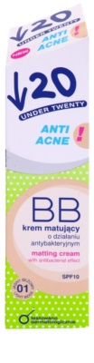 Under Twenty ANTI! ACNE crema BB antibacteriana matificante SPF 10 2