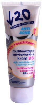 Under Twenty ANTI! ACNE BB creme multifuncional com efeito antibacteriano