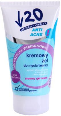 Under Twenty ANTI! ACNE kremasti gel za umivanje