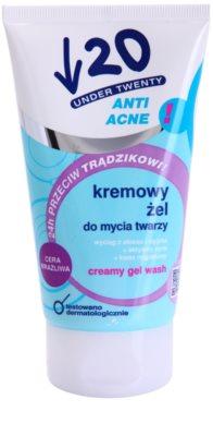 Under Twenty ANTI! ACNE krémový mycí gel