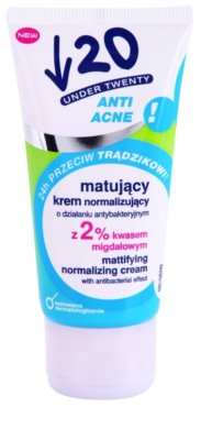 Under Twenty ANTI! ACNE creme matificante com ação antibacteriana