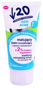 Under Twenty ANTI! ACNE matující krém s antibakteriálním účinkem