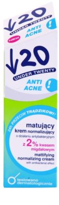 Under Twenty ANTI! ACNE creme matificante com ação antibacteriana 2