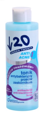 Under Twenty ANTI! ACNE antibakteriális tonik a fekete pontok ellen