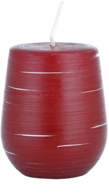 Unipar Nordlys Steep Line Red dekorativní svíčka   (Cone 90-100)
