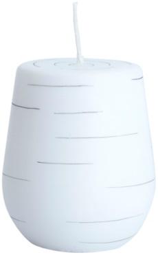 Unipar Nordlys Steep Line White dekorativní svíčka   (Cone 90 - 100)