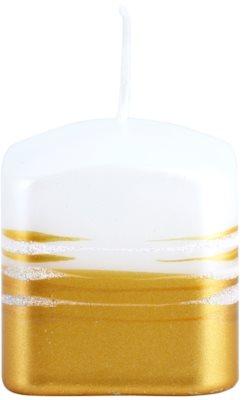 Unipar Tonnet White-Gold Kerze   (Square 60 - 60 - 60)